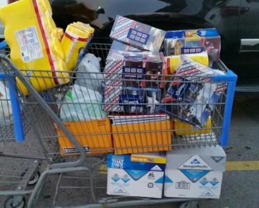 school supply cart